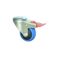 100kg Rated M Series Industrial Castor - 100mm - Swivel With Brake