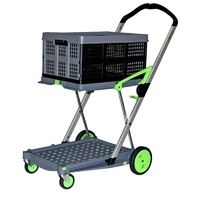 200kg Clax Folding Office Trolley Cart