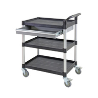 250kg Rated Triple Deck Tool Trolley with Drawer