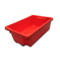 32L Plastic Crate Stack & Nest Container 645 X 413 X 210mm - Red