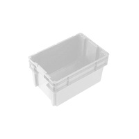 52L Plastic Crate Stack & Nest Container 578 X 384 X 318mm - White