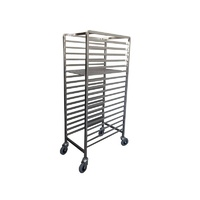 Pastry Trolley Racking Mild Steel - 18 Trays