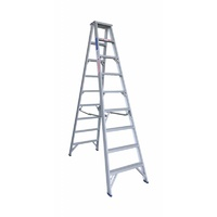 Indalex 180KG 9 Step Double Sided Aluminium Step Ladder Model