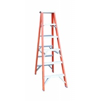 Indalex 150KG 6 Step Fibreglass Double Sided Step Ladder - Ladder Height - 1.8 m