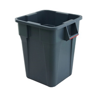 106L Plastic Square Container - Grey