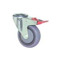 100kg Rated M Series Industrial Castor -100mm - Swivel With Brake