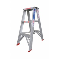 Indalex 150KG 3 Step Double Sided Aluminium Step Ladder