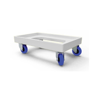 150kg Rated Plastic Dolly - White