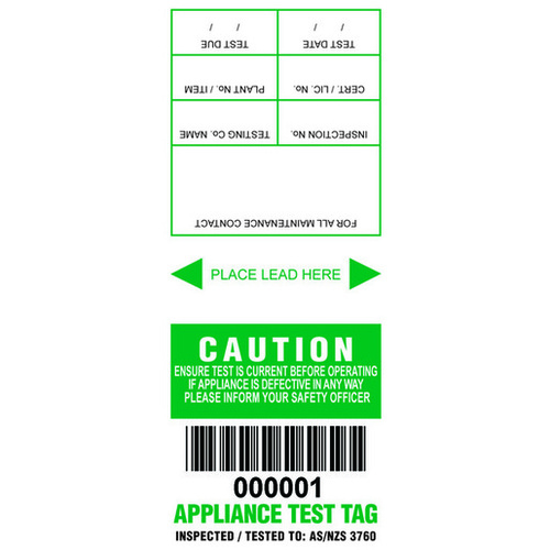 ETG - Electrical test and Tags - Green